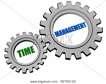 Time Management In Silver Grey Gears
