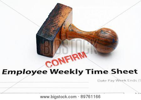Employee Time Sheet - Confirm