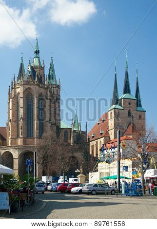 St. Mary's Cathedral And St. Severus' Church, Erfurt, Germany