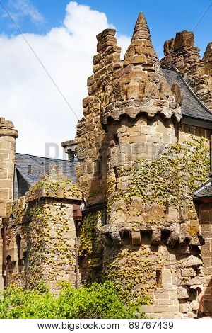 Old towers and walls of Lowenburg, Kassel Germany