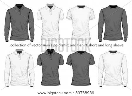 Men's t-shirt and polo-shirt. Vector illustration.