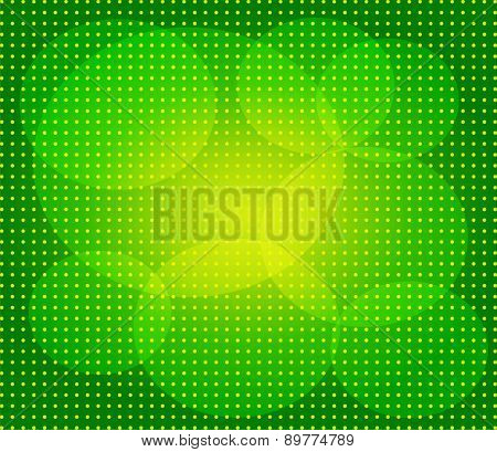 Green abstract technology background with seamless circle