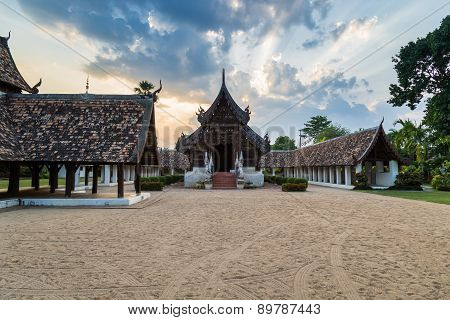 Wat Ton Kain, Old Wooden Temple In Chiang Mai Thailand.
