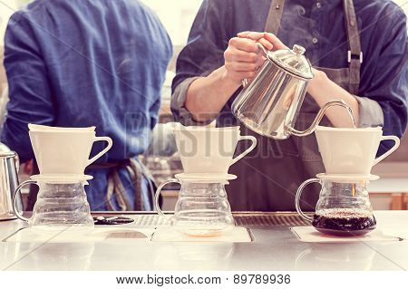 Barista Driping Coffee