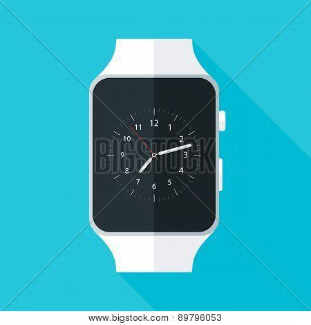 Light Smart Watch Flat Stylized