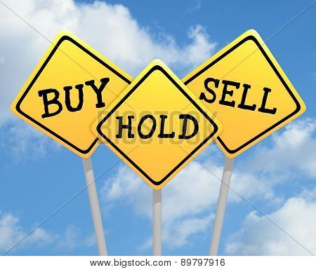 Buy Hold Sell Signs