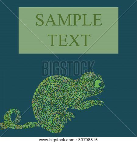 Abstract chameleon vector illustration