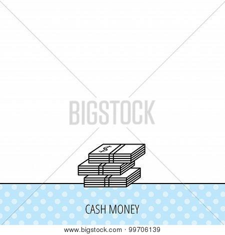 Cash icon. Dollar money sign.