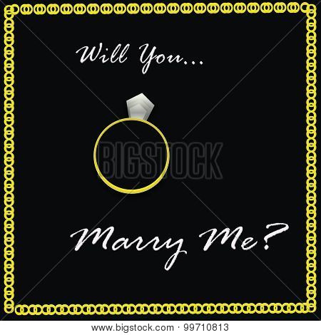 Will You Marry Me on Black