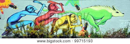 Street art hunting the wofl