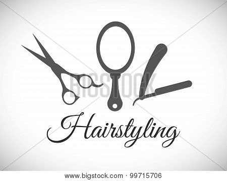Hair Salon digital design, vector illustration eps 10. poster