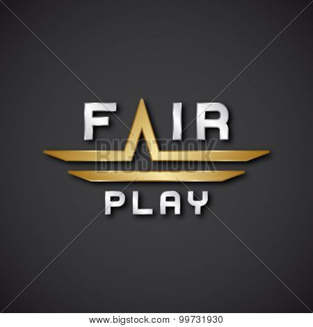 EPS10 vector fair play text icon