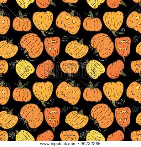 Black Halloween Pumpkin Pattern