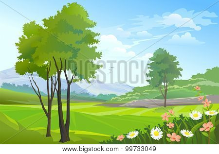 Beauty of nature: countryside