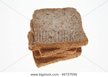 slices of Wholemeal toast bread on white poster