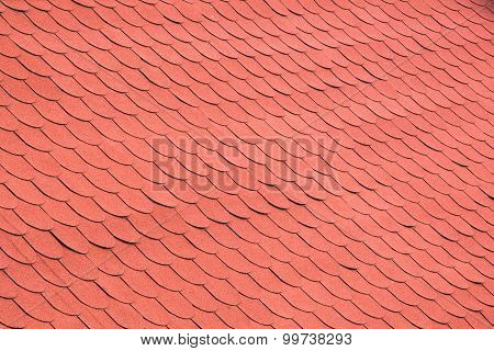Red Tiles On A Roof Background