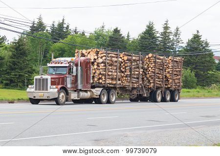 Timber Truck In Nova Scotia
