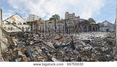 Debris After Fire