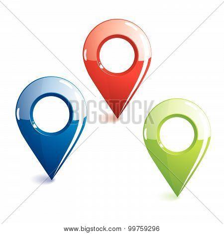 Glossy Location Symbols