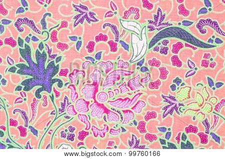 Closeup Pattern Texture Of General Traditional Thai Style.