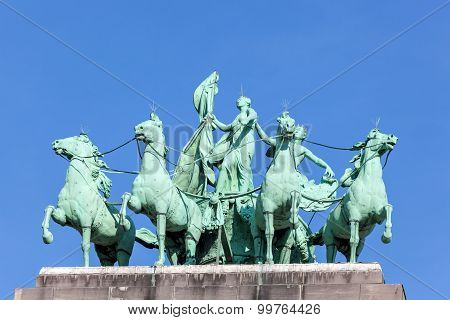 Quadriga At The Triumphal Arch In Brussels
