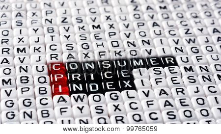 CPI Consumer Price Index definition written on dices poster