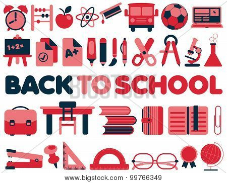 Back to School - Vector Icons collection