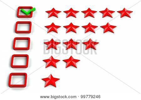 Rating Stars Checkbox