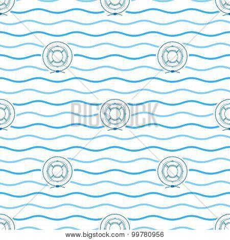Lifebuoy , Seamless Pattern