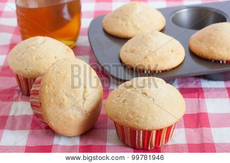 Honey Muffins On A Table