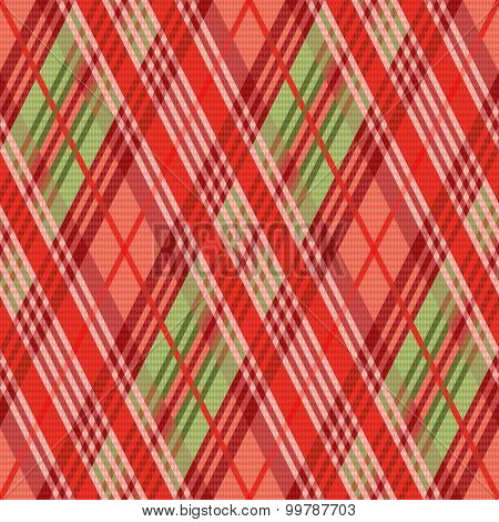Rhombic Seamless Pattern Mainly In Red Hues