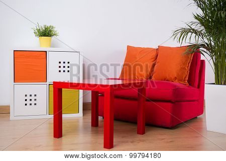 Relaxation Space In Teenager Room