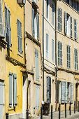 Provence typical city Aix en Provence with old house facade poster