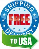Free Shipping  for USA (delivery) Glossy Web Icon poster