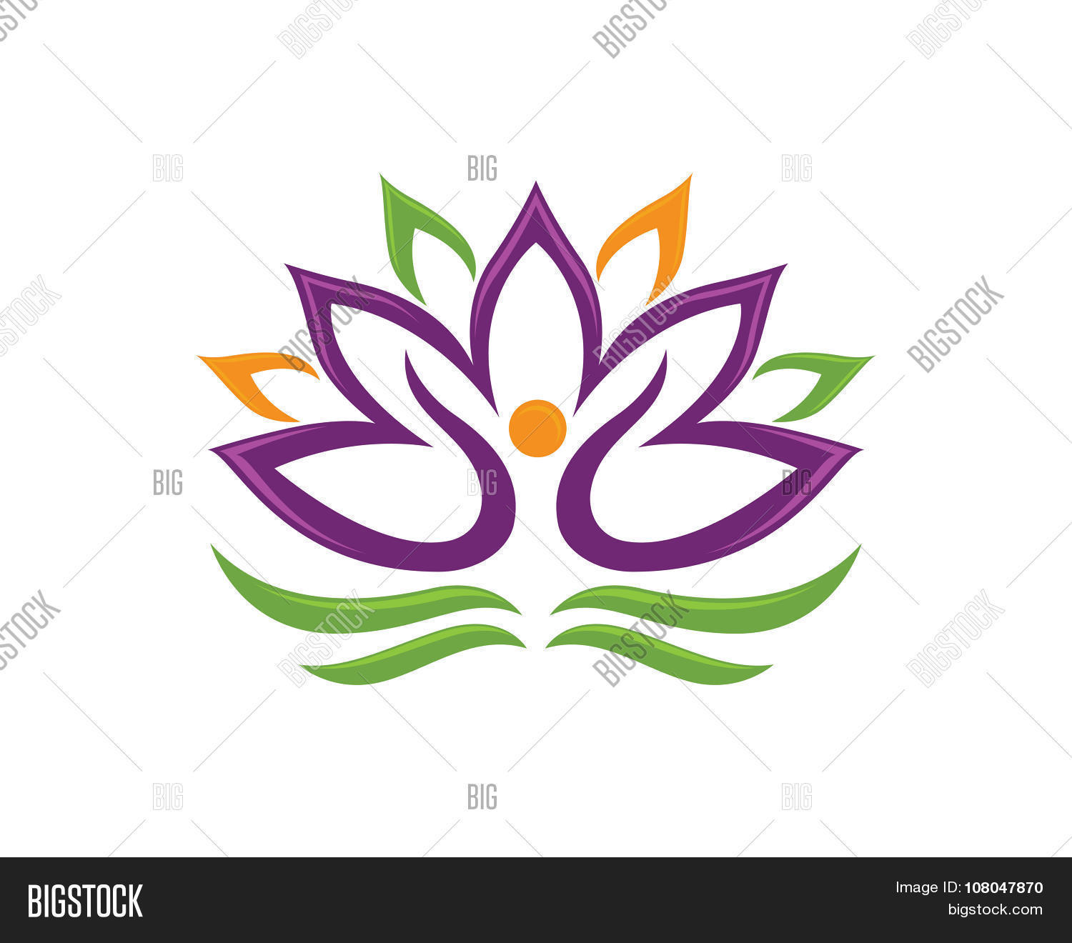 Stylized lotus flower vector photo free trial bigstock stylized lotus flower izmirmasajfo