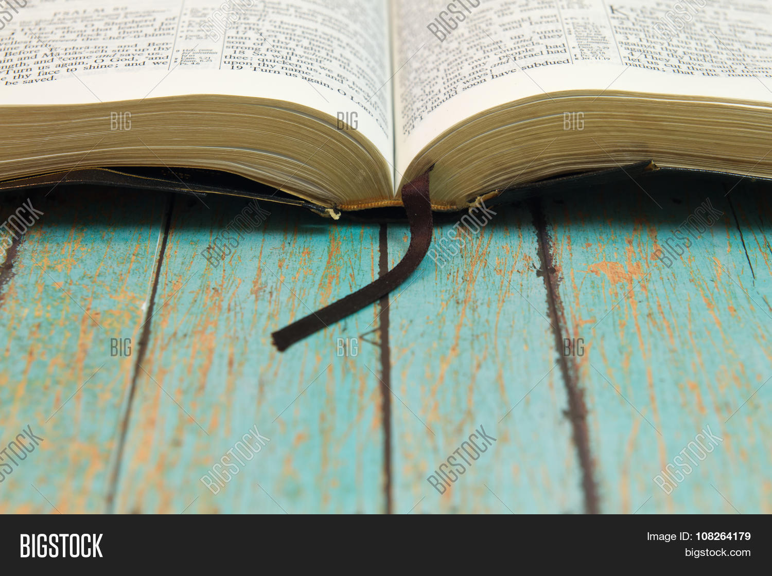 opened bible bookmark image photo free trial bigstock