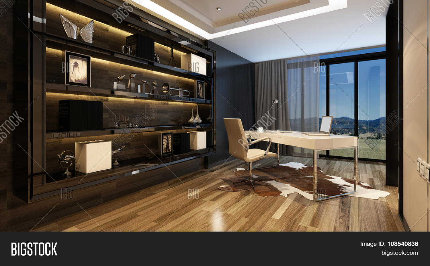 Upmarket Home Office Image Photo Free Trial Bigstock