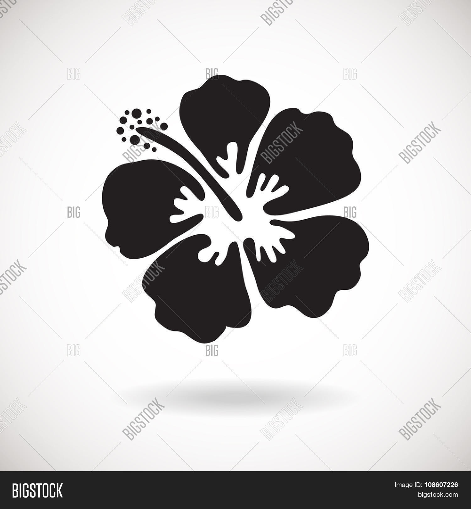 Black Hibiscus Flower Vector Photo Free Trial Bigstock