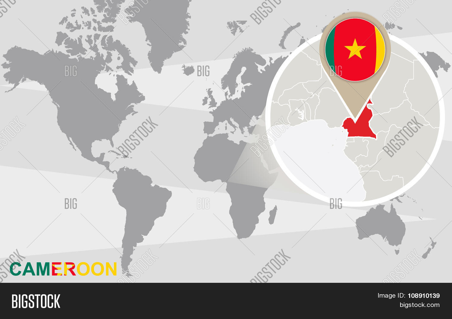 World Map Magnified Vector & Photo (Free Trial) | Bigstock