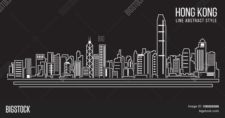 Line Art City : Cityscape building line art vector photo bigstock