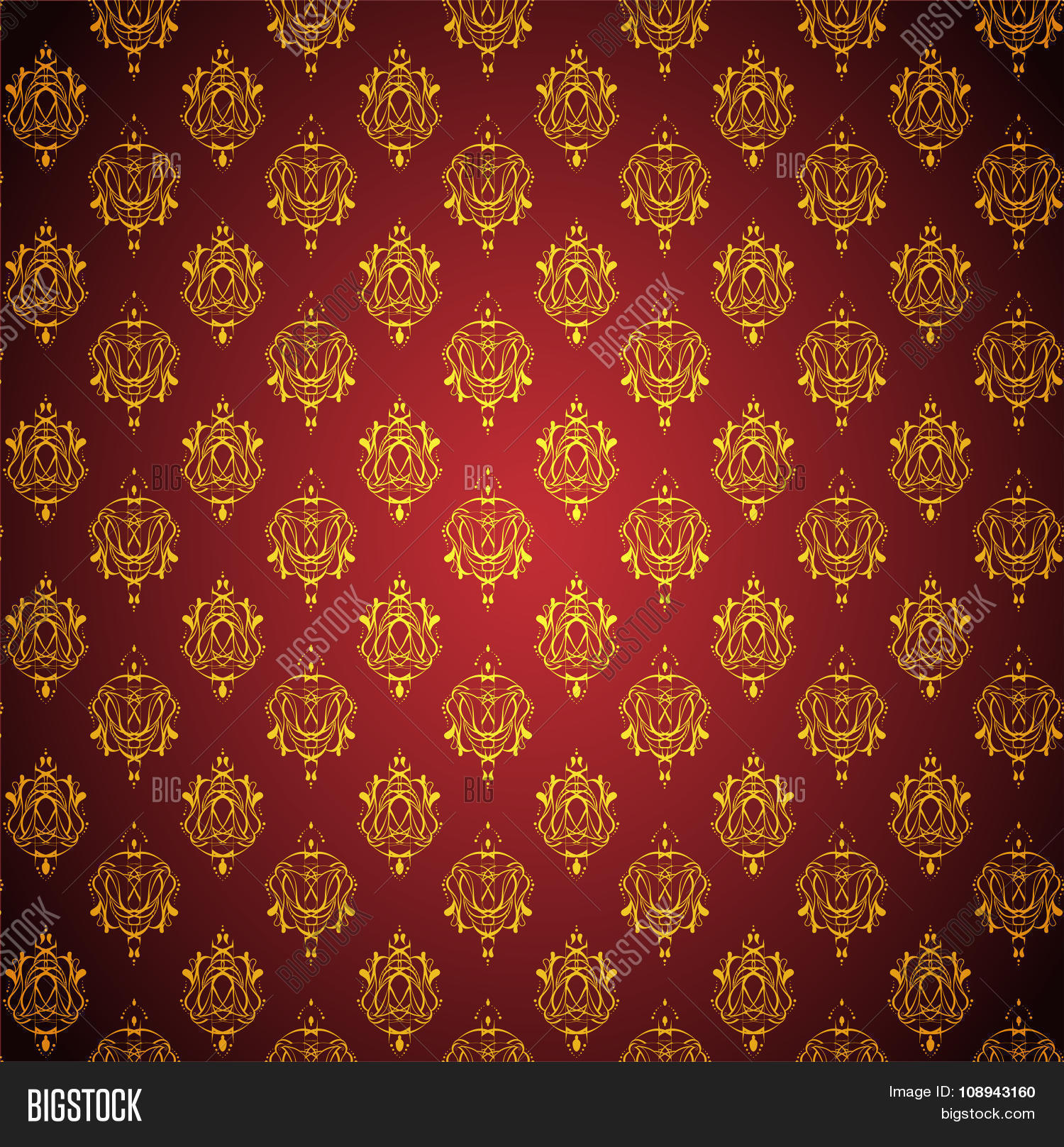 Abstract Red Golden Vector Photo Free Trial Bigstock