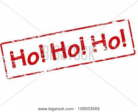 Rubber stamp with text hohoho inside vector illustration