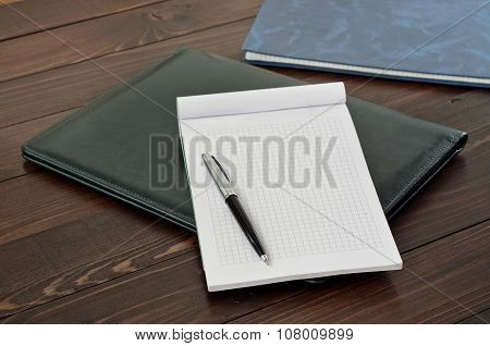 Open Notebook With Blank Page