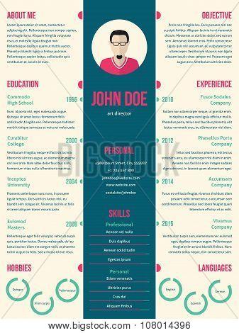 Modern Resume Cv Template For Employment