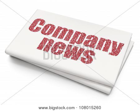 News concept: Company News on Blank Newspaper background