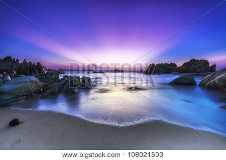 Nice color rays Ke Ga rocks welcomes new day