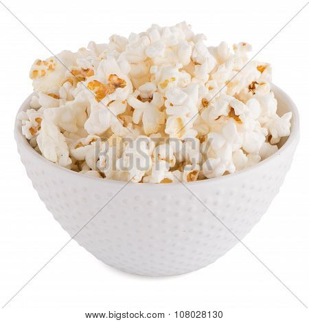 Popcorn In A White Bowl