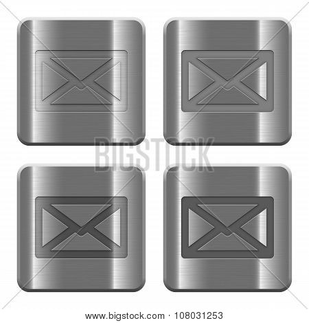 Metal Mail Buttons
