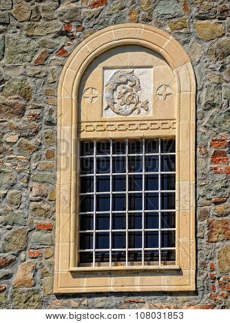 Window of the ancient Orthodox monastery Kykkos