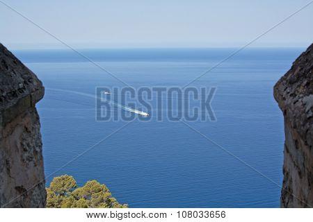 Majorca seascape with boats